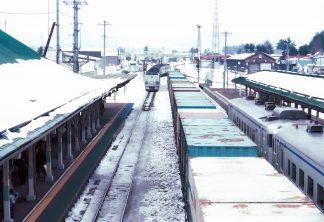 JR石北本線・遠軽駅・特急「オホーツク」(北海道:1998年2月)