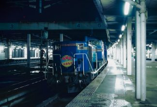 JR函館本線・札幌駅・寝台急行「はまなす」(北海道:1998年2月)