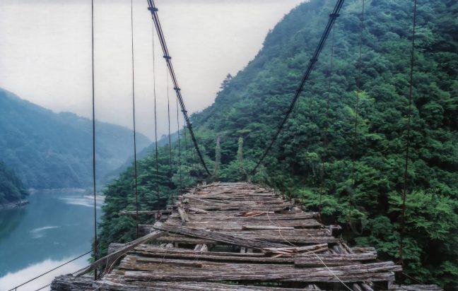 JR飯田線・小和田駅付近・高瀬橋(静岡県:1998年8月)