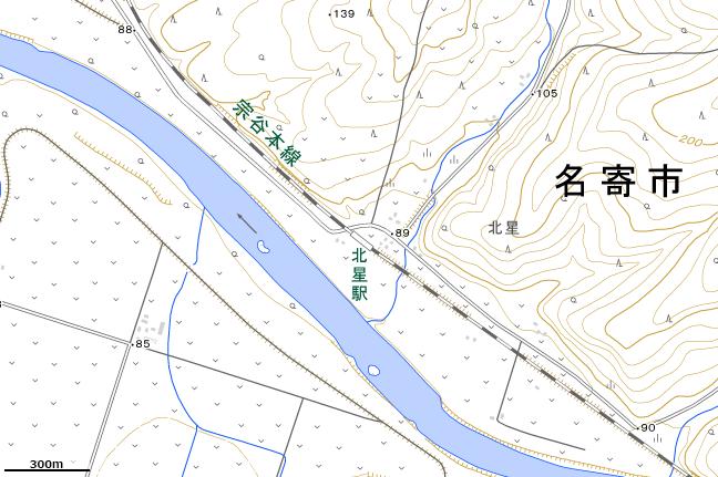 地形図:北星駅付近