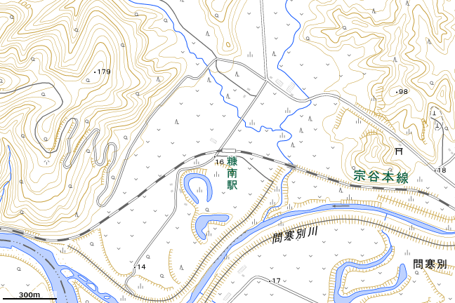地形図:糠南駅付近