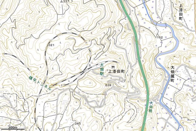 地形図:大畑駅付近