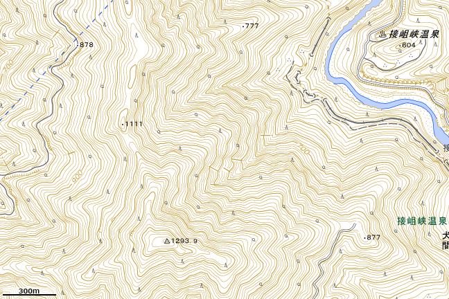 地形図:「くりぞうりさわ」付近