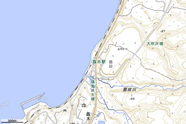 地形図:驫木駅付近