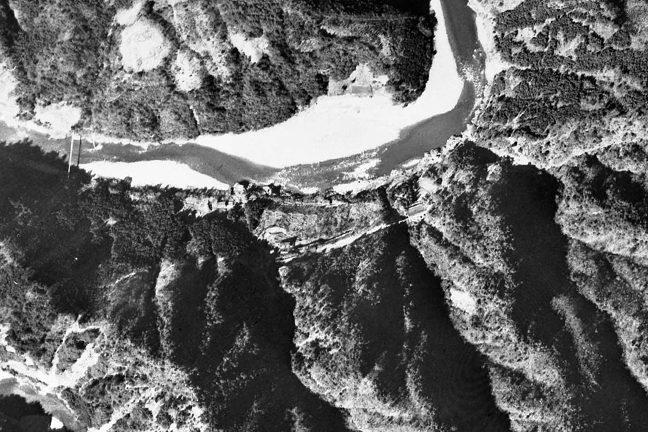 旧版空撮画像(1948/03/02(昭23)):小和田駅周辺拡大