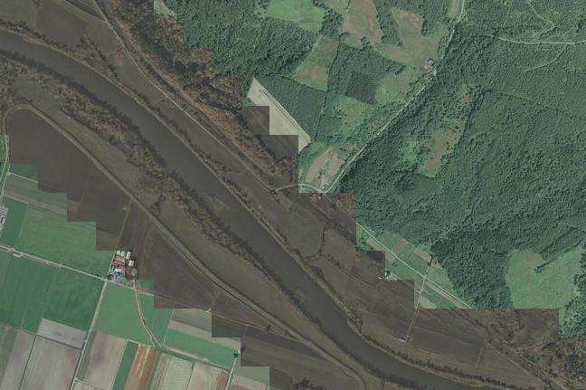 空撮画像:北星駅付近