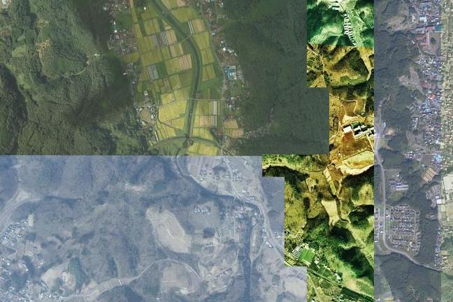空撮画像:滝駅周辺