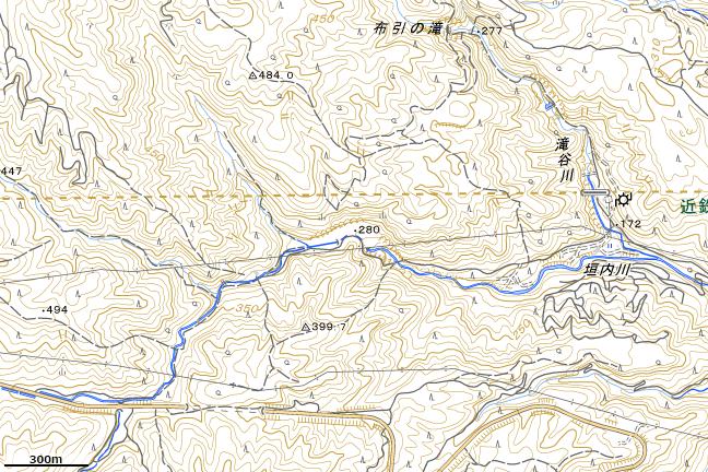 地形図:旧東青山駅周辺