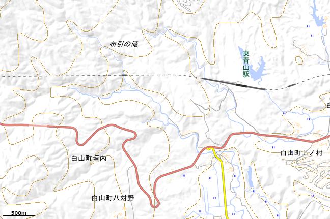 地形図:東青山駅周辺広域