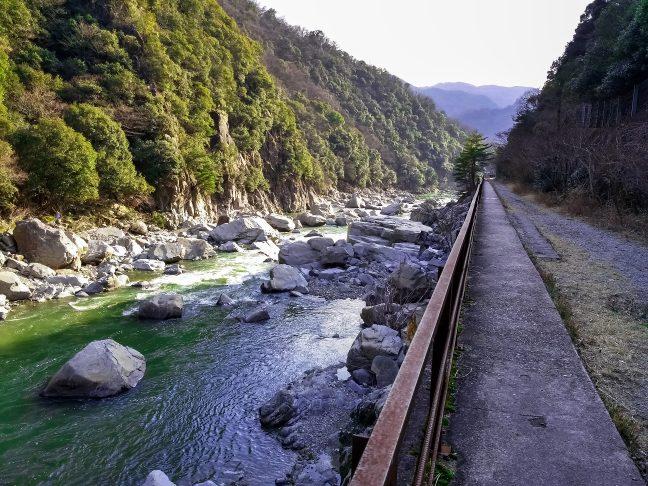 旧JR福知山線武庫川渓谷(兵庫県:2015年3月)