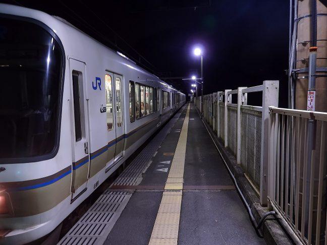 通勤客で混雑した列車から保津峡駅に降り立ったのは自分一人だった