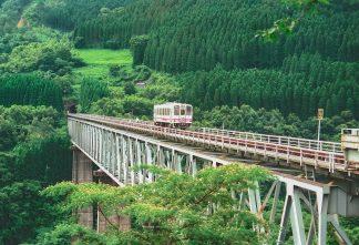 旧高千穂鉄道・高千穂橋梁(宮崎県:1998年6月)