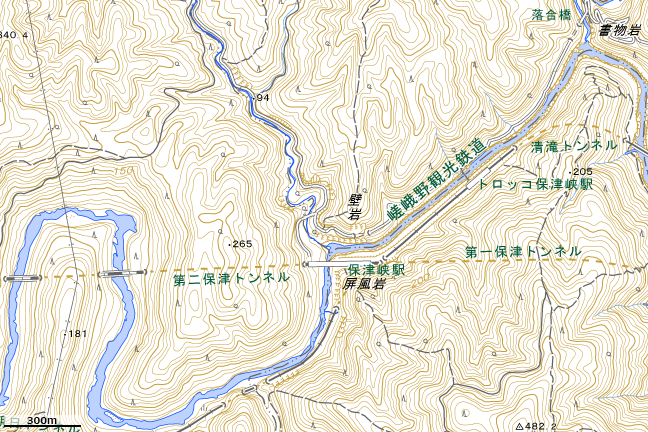 地形図:保津峡駅周辺