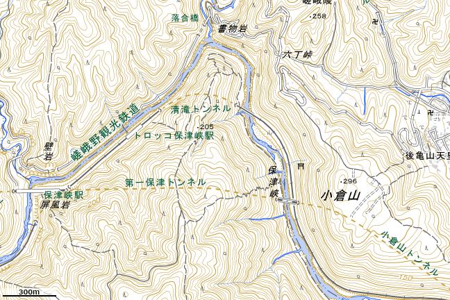 地形図:保津峡駅東部