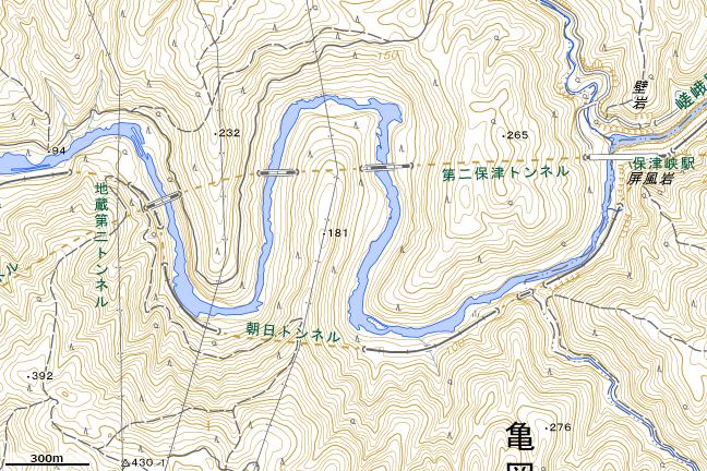 地形図:保津峡駅西部