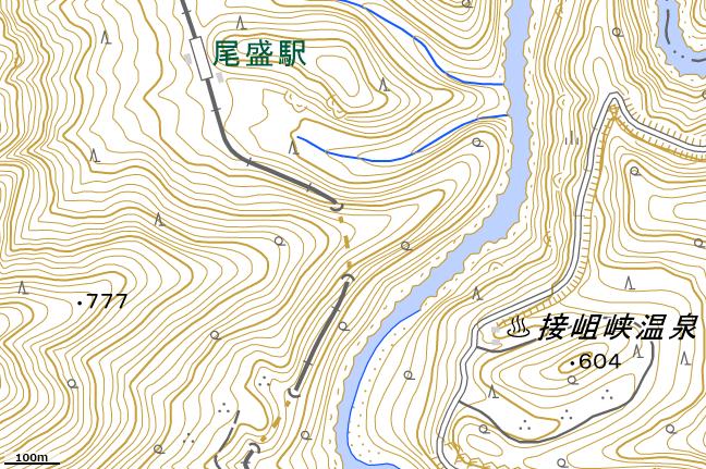 地形図:32号トンネル付近