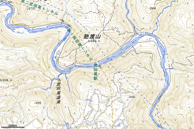 地形図:武田尾駅周辺