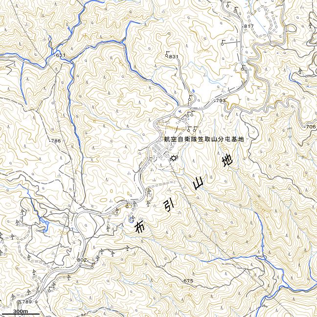 地形図:青山高原周辺