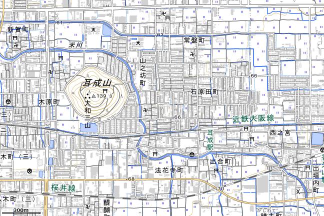地形図:耳成駅周辺