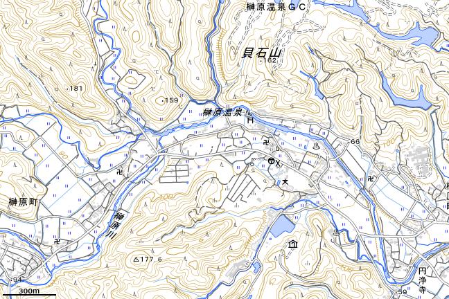 地形図:榊原温泉周辺