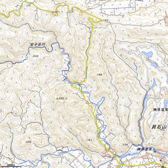 地形図:榊原温泉~青山高原入口