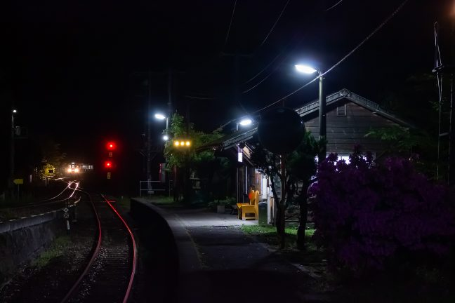 JR土讃線・坪尻駅(徳島県:2016年4月)