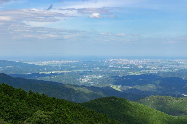 青山高原から久居方面を遠望する