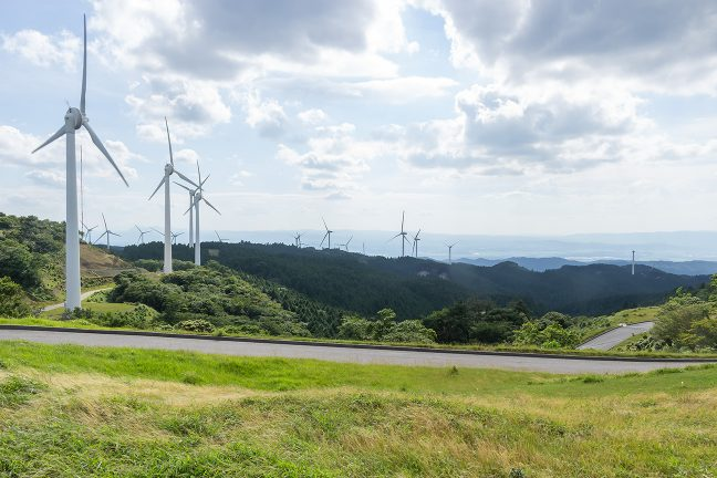 青山高原から西側の風景