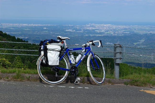 青山高原から伊勢湾岸を見下ろす「ちゃり鉄1号」