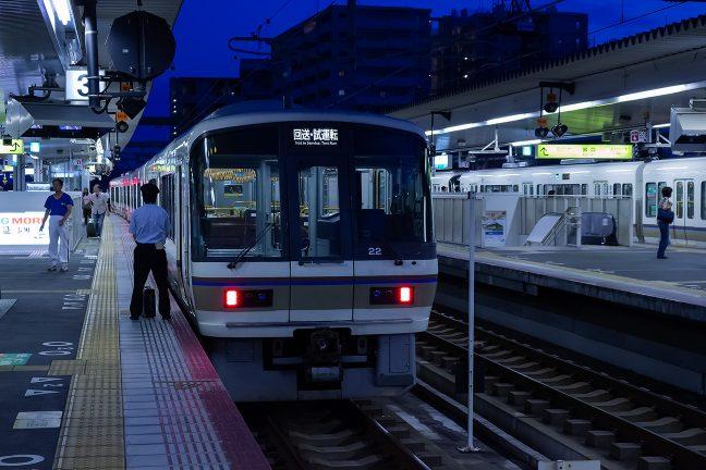 高架化された奈良駅で乗り換え