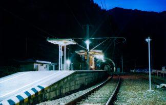 JR飯田線・大嵐駅(静岡県:1998年8月)