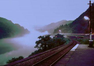 JR只見線・早戸駅(福島県:1998年8月)