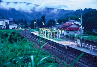 JR飯山線・上境駅(新潟県:1998年8月)
