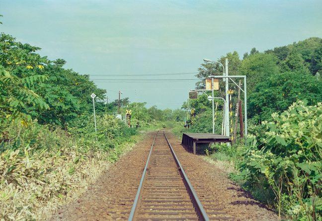 名寄駅方から遠望した北星駅
