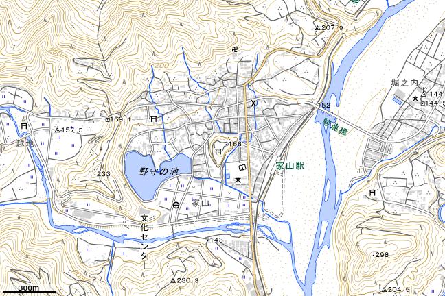 地形図:家山駅周辺