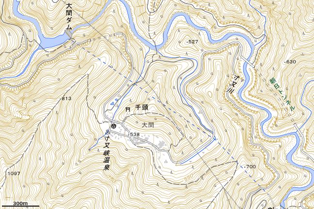 地形図:寸又峡周辺
