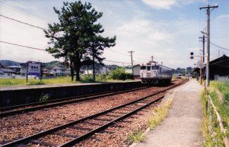 JR姫新線・勝間田駅(岡山県:2000年8月)