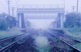 JR美祢線・於福駅(山口県:2000年8月)