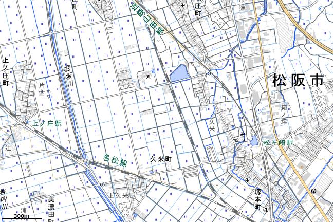 地形図:松ヶ崎駅周辺