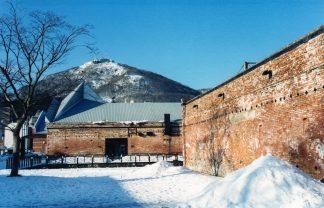 函館赤レンガ倉庫群と函館山(北海道:2001年1月)