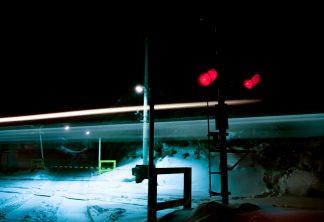 下北交通大畑線・陸奥関根駅(青森県:2001年1月)