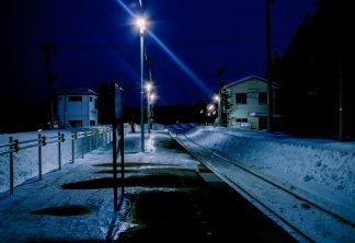 JR花輪線・安比高原駅(岩手県:2001年1月)