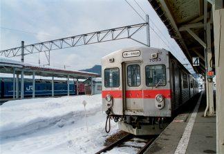 弘南鉄道大鰐線・大鰐温泉駅(青森県:2001年1月)