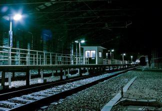 JR奥羽本線・峠駅(山形県:2001年1月)