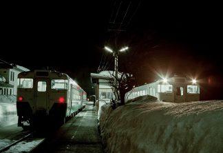 JR只見線・会津川口駅(福島県:2001年1月)