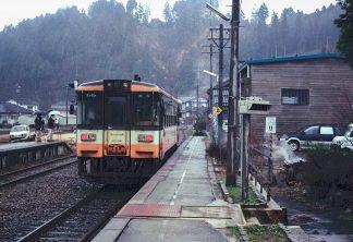 のと鉄道七尾線・能登三井駅(石川県:2001年3月)