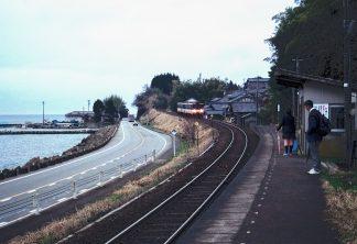 のと鉄道能登線・矢波駅(石川県:2001年3月)