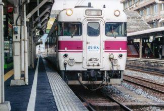 JR山陰本線・米子駅・夜行急行だいせん(鳥取県:2001年6月)