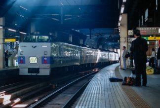 JR函館本線・札幌駅・特急「オホーツク」(北海道:2001年6月)