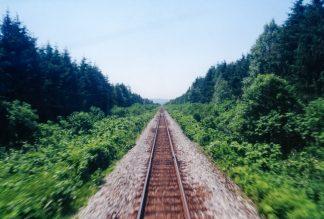 JR宗谷本線・剣淵駅~北剣淵駅間(北海道:2001年6月)